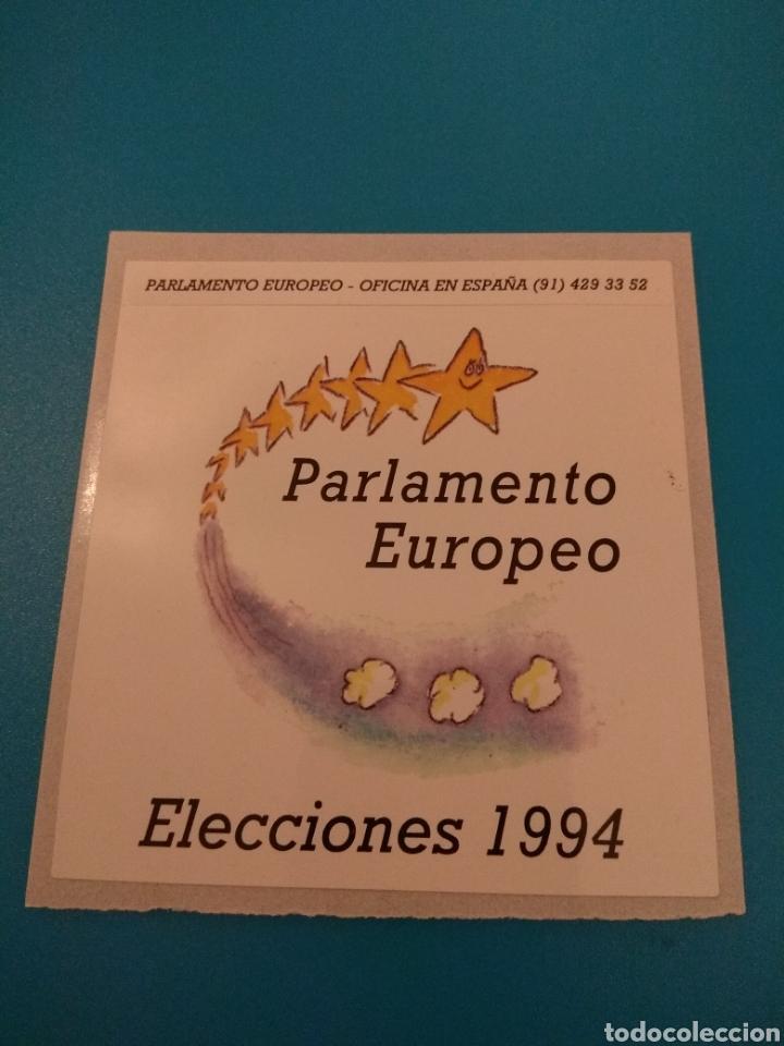 PEGATINA POLÍTICA PARLAMENTO EUROPEO 1994 (Coleccionismos - Pegatinas)