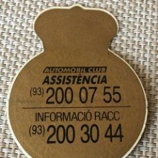 Pegatinas de colección: ADHESIVO PEGATINA RACC REIAL AUTOMOBIL CLUB CATALUNYA. Lote 152451265