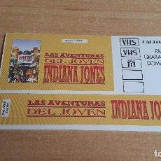 Pegatinas de colección: PEGATINA SERIE TV -- LAS AVENTURAS DEL JOVEN INDIANA JONES. Lote 152543498