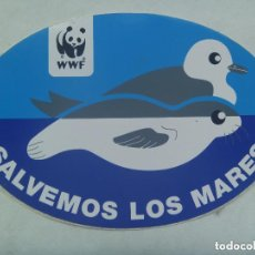 Pegatinas de colección: PEGATINA POLITICA ECOLOGISTA : WWF , SALVEMOS LOS MARES.. Lote 222286725