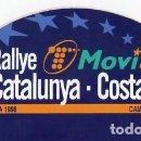 Pegatinas de colección: 34 RALLYE CATALUNYA COSTA BRAVA *** RALLYE DE ESPAÑA 1998 CAMPEONATO DEL MUNDO LLORET DE MAR. Lote 153403550