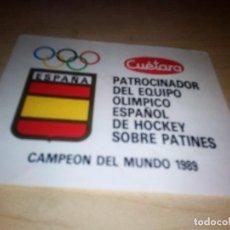 Pegatinas de colección: ANTIGUA PEGATINA CUETARA PATROCINADOR EQUIPO OLIMPICO ESPAÑOL HOCKEY PATINES - 1989. Lote 153726254