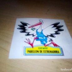 Pegatinas de colección: PABELLON EXTREMADURA PEGATINA. Lote 153766182