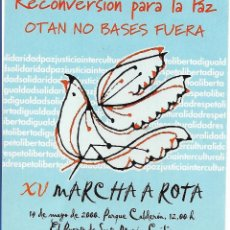Autocollants de collection: XV MARCHA A ROTA, 2000. Lote 162784389