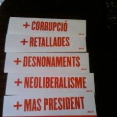 Pegatinas de colección: PEGATINA POLITICA COMUNISTA CATALUNYA ELECCIONES SERIE COMPLETA. Lote 155708490