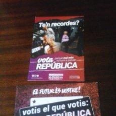 Pegatinas de colección: PEGATINA POLITICA REFERENDUM CATALUNYA. Lote 155708658