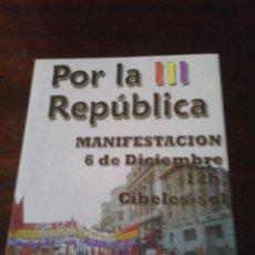 Pegatinas de colección: PEGATINA ADHESIVO REPUBLICANA REPUBLICA. Lote 155709546
