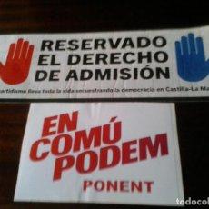 Pegatinas de colección: PEGATINA POLITICA COMUNISTA ELECCIONES. Lote 155709662