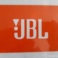 Pegatinas de colección: PEGATINA DE PUBLICIDAD JBL. Lote 155999634