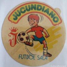 Pegatinas de colección: PEGATINA DE PUBLICIDAD JUCUNDIANO, FUTBOL SALA.. Lote 155999918