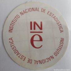 Pegatinas de colección: PEGATINA DE PUBLICIDAD INE, INSTITUTO NACIONAL DE ESTADÍSTICA.. Lote 156000142
