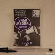 Pegatinas de colección: PEGATINA ORIGINAL - VAGA LABORAL - SINDICATO - POLITICA - CATALUÑA - CCOO. Lote 156010854