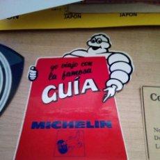 Pegatinas de colección: ANTIGUA PEGATINA PUBLICIDAD YO VIAJO CON LA FAMOSA GUIA MICHELIN. Lote 156028526