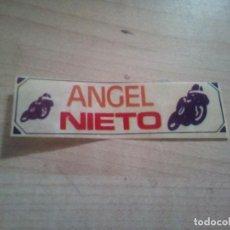 Pegatinas de colección: ANTIGUA PEGATINA DE ANGEL NIETO. Lote 156713026