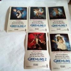 Pegatinas de colección: LOTE DE 5 PEGATINAS GREMLINS 2 . Lote 157829714