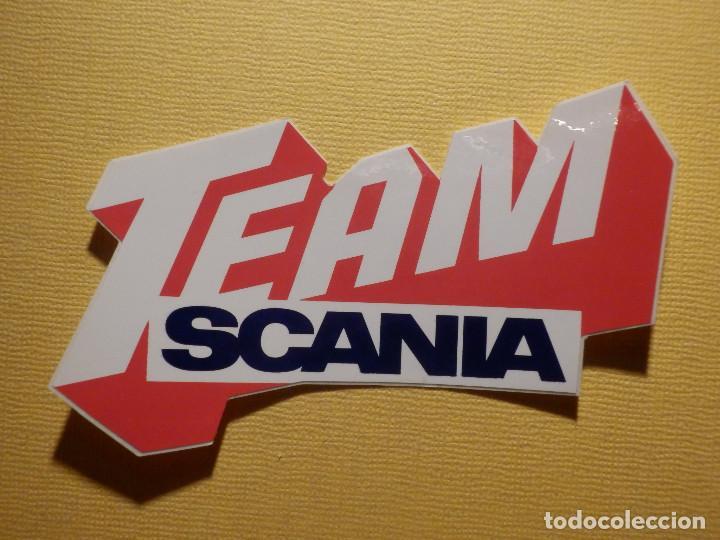 Pegatina Adhesivo Sticker Scania Team 10 X 45 Cm Camiones Carreras