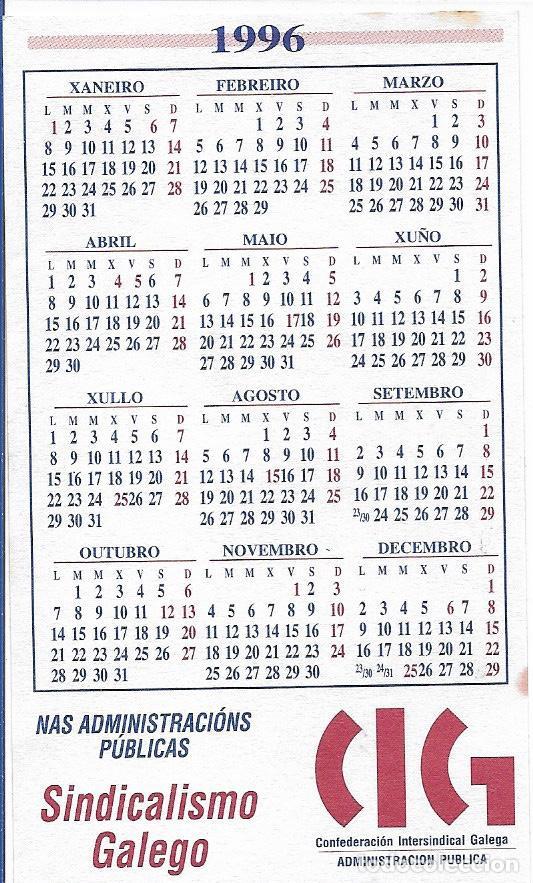 Calendario 1996.Confederacion Intersindical Galega Calendario 1996
