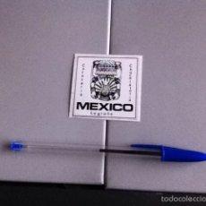 Pegatinas de colección: CAFETERÍA MEXICO. LOGROÑO. PEGATINA. Lote 158851293