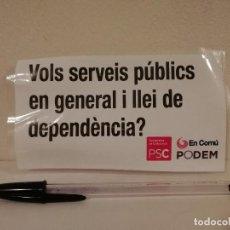 Adesivi di collezione: PEGATINA ORIGINAL - DEPENDENCIA - PSOE - POLITICA - PSC - PODEMOS. Lote 236061120