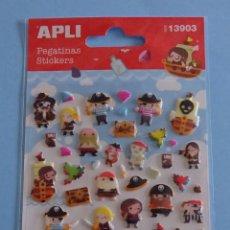 Pegatinas de colección: PEGATINAS MARCA APLI REF. 13903. PIRATAS. Lote 160153478