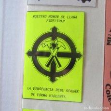 Pegatinas de colección: PEGATINA POLITICA. Lote 162362822