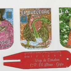 Pegatinas de colección: LOTE DE 3 PEGATINAS MITOLOGIA ASTURIAS DOBLE CARA. Lote 222285116