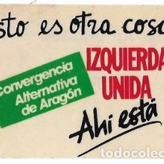 Adesivi di collezione: IZQUIERDA UNIDA ARAGON AÑOS 90. Lote 162958290