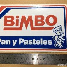 Pegatinas de colección: PEGATINA AÑOS 70-80 PARA ESCAPARATE DE ULTRAMARINOS DE BIMBO PAN Y PASTELES. Lote 162967218