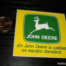 Pegatinas de colección: -PEGATINA JOHN DEERE , TRACTORES MAQUINARIA. Lote 162986206
