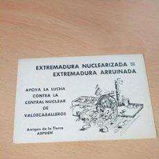 Autocollants de collection: PEGATINA POLITICA EXTREMADURA ANTINUCLEAR ECOLOGISTA. Lote 163043882