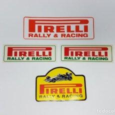 Pegatinas de colección: LOTE DE PEGATINAS PIRELLI RALLY & RACING ( AÑOS 90 ). Lote 163384730