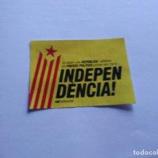 Pegatinas de colección: ADHESIVO PEGATINA POLÍTICA EN CATALÁN INDEPENDÈNCIA CATALUNYA, CDR TARRAGONA (MIDE 10,5 X 7,5 CM). Lote 165084574