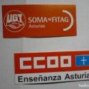 Pegatinas de colección: LOTE PEGATINAS SINDICATOS UGT.-CCOO -ASTURIAS. Lote 165737070
