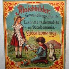 Pegatinas de colección: CUADRITOS TRANSFORMABLES EN DECALCOMANIA- PRINCIPIOS DEL SG XX.. Lote 165952698