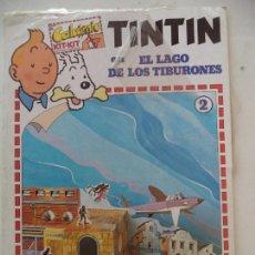 Pegatinas de colección: CALCOMIC 2 TINTIN EN EL LAGO DE LOS TIBURONESNUEVO COMPLETO SIN DESPRECINTAR. Lote 166037934