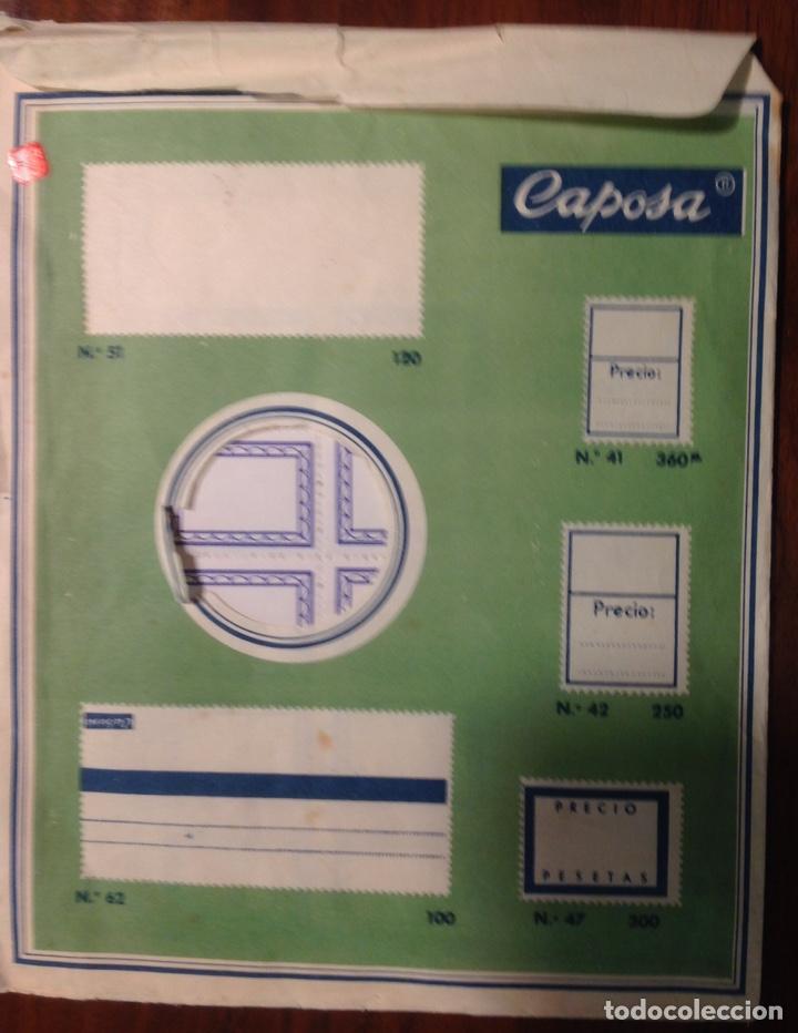 Pegatinas de colección: 300 Etiquetas antiguas, engomadas y perforadas, de Caposa, n* 22 (años 50) - Foto 4 - 166533989