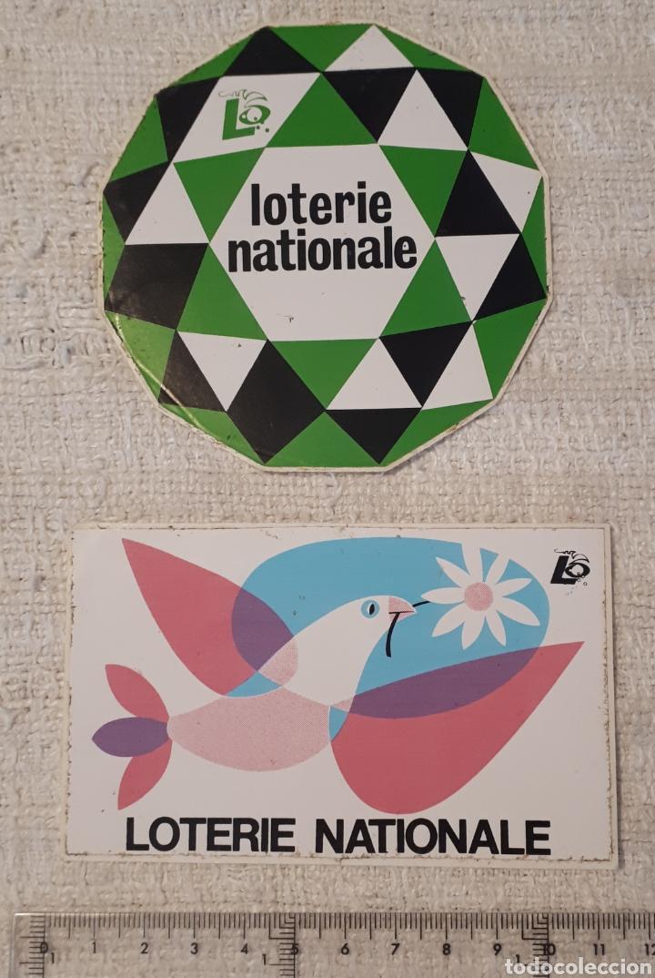 LOTE 2 PEGATINAS ADHESIVOS LOTERIE NATIONALE (Coleccionismos - Pegatinas)