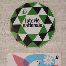 Pegatinas de colección: LOTE 2 PEGATINAS ADHESIVOS LOTERIE NATIONALE. Lote 167535848