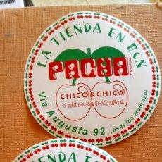 Pegatinas de colección: LOTE DE 2 PEGATINAS DE LA TIENDA PACHA.. Lote 168319265