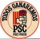 Pegatinas de colección: PSC-PSOE, AÑOS 80. Lote 169337092