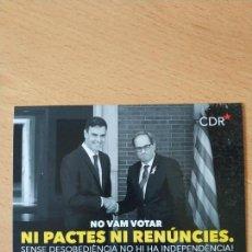 Pegatinas de colección: PEGATINA POLITICA CDR CATALUÑA CATALUNYA. Lote 169797598