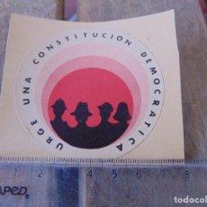Pegatinas de colección: PEGATINA POLITICA URGE UNA CONSTITUCION DEMOCRATICA. Lote 170299476