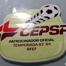 Pegatinas de colección: CEPSA PATROCINADOR OFICIAL R.F.E.F. 83-84. Lote 170378361