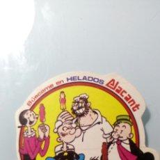 Pegatinas de colección: POPEYE HELADOS ALACANT. Lote 170379949
