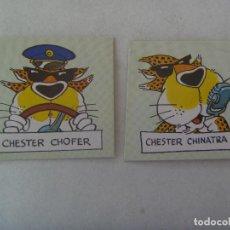 Pegatinas de colección: LOTE DE 2 PEGATINAS DE CHESTER. DE MATUTANO. Lote 171028085
