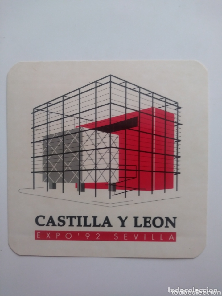 PABELLON CASTILLA & LEON.SEVILLA EXPO 92 (Coleccionismos - Pegatinas)