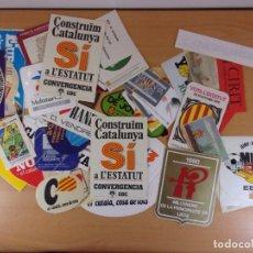 Pegatinas de colección: LOTE DE PEGATINAS CATALANAS FINALES DE LOS 70 Y DE LOS 80 / ALGO MAS DE 50 UNIDADES. Lote 173153313
