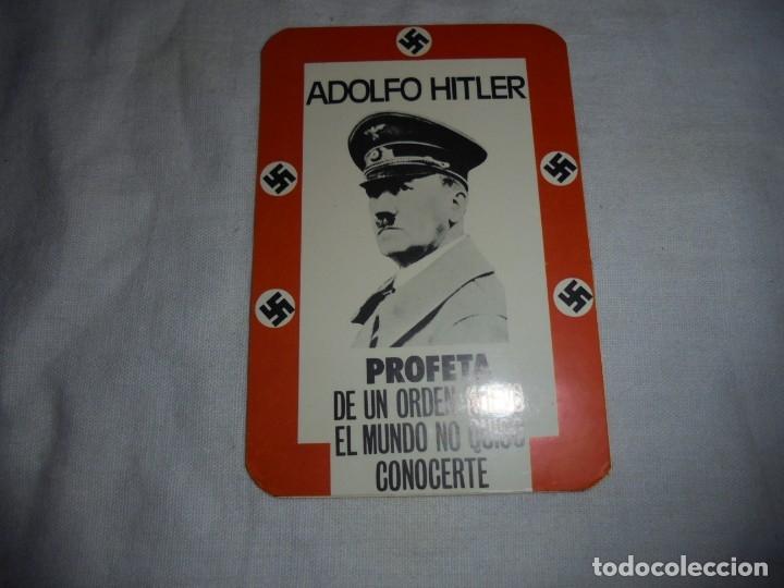 PEGATINA POLTICA ADOLFO HITLER PROFETA DE UN ORDEN NUEVO EL MUNDO NO QUISO CONOCERTE (Coleccionismos - Pegatinas)
