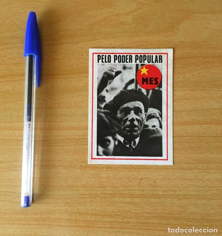 PEGATINA POLÍTICA PORTUGUESA MES (Coleccionismos - Pegatinas)