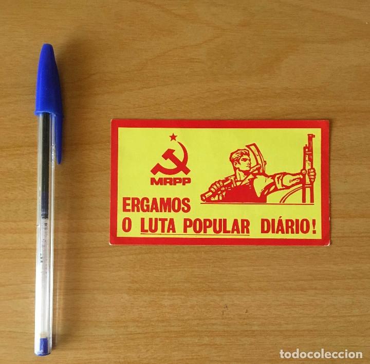 PEGATINA POLÍTICA PORTUGUESA MRPP (Coleccionismos - Pegatinas)